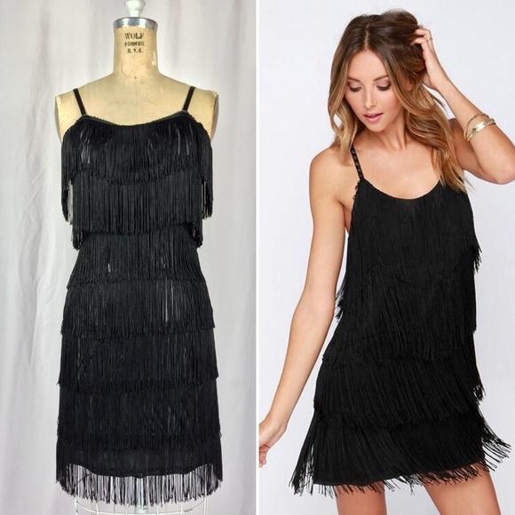 Vintage Dresses & Skirts | Fringe Great Gatsby Flapper Cocktail ...